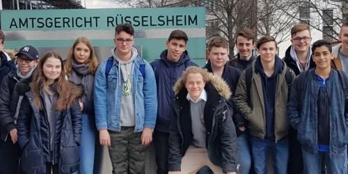 Ausflug der Klasse 9d zum Amtsgericht Rüsselsheim am 19. März 2019