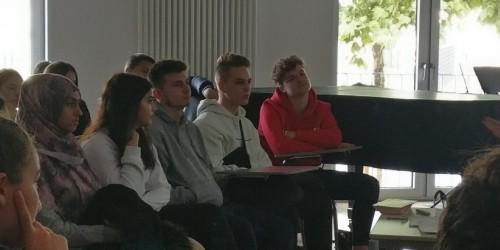 Besuch der Hospizleiterin Christa Hofmann, Hospizverein Lebensbrücke e.V. Flörsheim