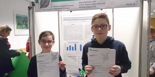 Jugend forscht/Schüler experimentieren – NG Jungforscher auf Erfolgskurs
