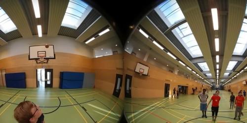 360° Kamera der Medien-AG im Einsatz beim Streetballturnier