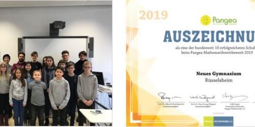 Mathematik verbindet: Teilnahme am Pangea-Mathematikwettbewerb 2020 und Auszeichnung für das Jahr 2019