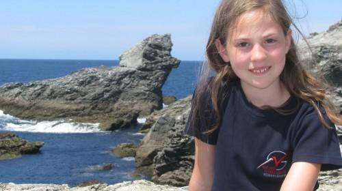 Platz 1 - Lisa Sophie Küchler (6g) - Am Hundefelsen in der Bretagne (Insel Belle-Ile)