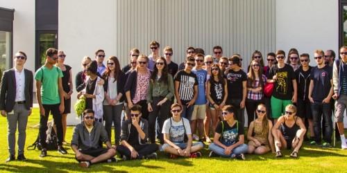 10. Klassen der MINT Kooperationsschule NG Rüsselsheim zu Besuch mit DB Systel an der Berufsakademie Rödermark