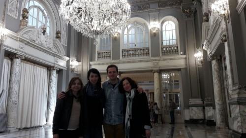 Im Kristallsaal des Rathauses von Valencia
