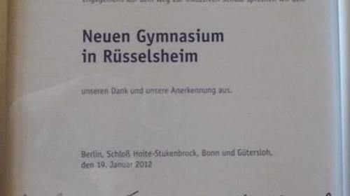 Jakob Muth-Preis für inklusive Schule 2012/13