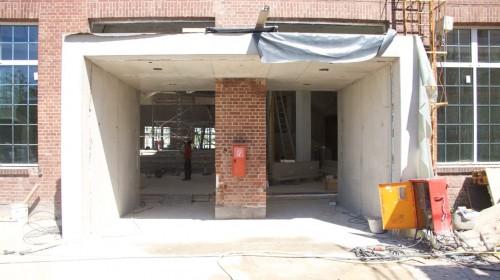 Außenfassade während des Umbaus