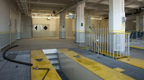 Bibliotheksbereich während des Umbaus