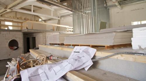 Foyer in der Umbauphase