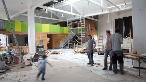 Foyer während der Umbauphase